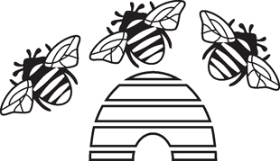 Bees decal