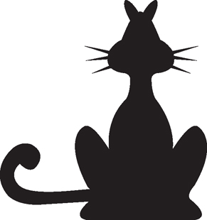 Black Cat decal 2