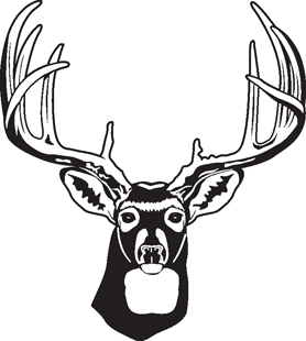 Deer decal bw
