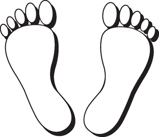 Foot Prints decal