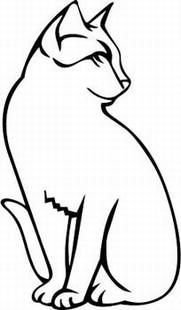 Classic cat decal