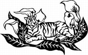 Tiger lilly decal