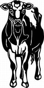 jersey cow decal 3