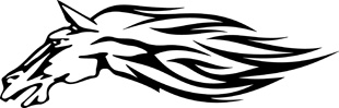 Tribal horse decal 10