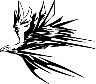Flaming Eagle decal