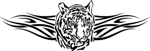Tribal tiger decal 4