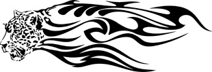 Tribal Flames Leopard decal