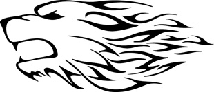 Flaming Dog decal