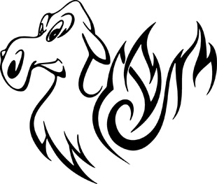 Flaming Animals decal