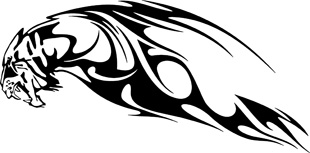 panther flames decal