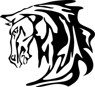 Tribal horse decal 2