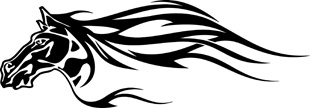 Tribal horse decal 4