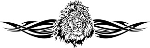 Tribal Lion decal 2