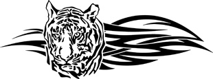 Tribal Tiger head decal