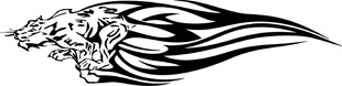 Tribal Flames Tiger decal