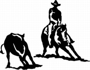 Cutting horse decal