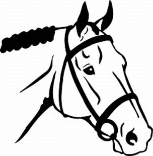English horse head decal