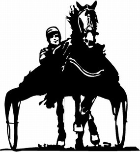 Horse and Buggy Race decal