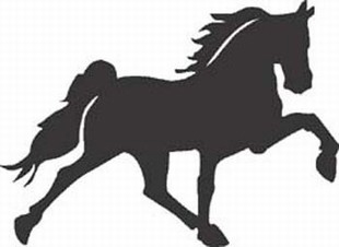 Galloping Horse decal 3