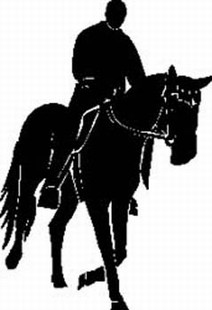 Horse and rider decal