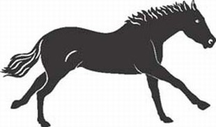 Galloping Horse decal 4