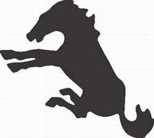 Bucking horse decal