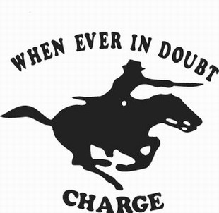 Charging Horse decal