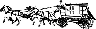 Horse carriage decal