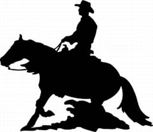 Reining horse decal