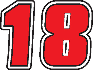 JOE GIBBS 18 NASCAR DECAL