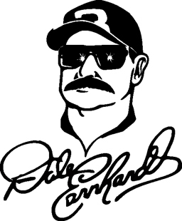 Dale Earnhardt Signature decal 3