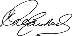 Dale Earnhardt Signature 2 decal