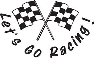 Lets Go Racing decal