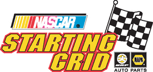 nascar starting grid flag decal