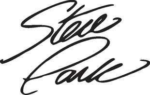 Steve Park Signature decal