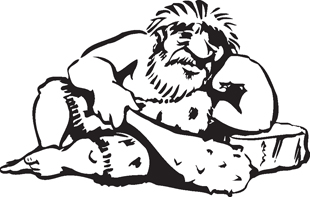 Cave Man decal