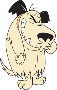 Muttley dog decal