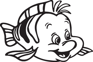Flounder the Fish decal