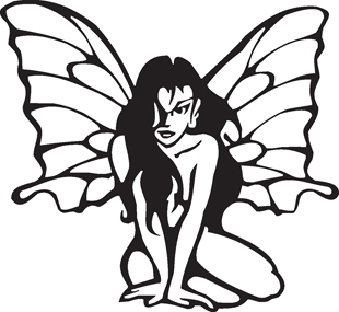 Butterfly Girl decal