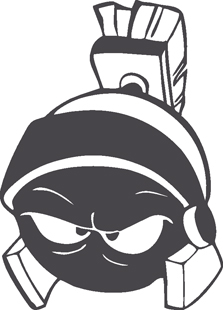 Marvin the Martian Head decal