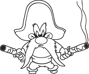 Yosemite Sam decal