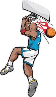 Flaming Slam Dunk decal 2