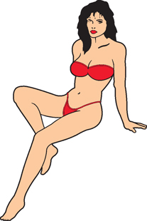 Girl In Bikini decal 1