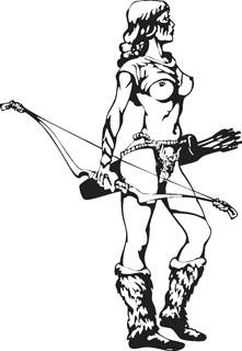 Sexy warrior girl decal 31