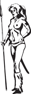 Sexy warrior girl decal 30