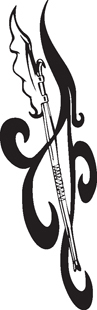 Tribal Axe decal 2
