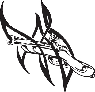 Tribal rifle decal