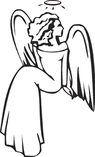 Sitting Angel decal