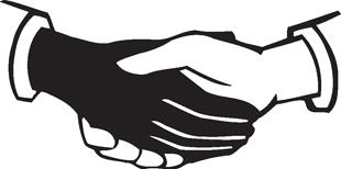 Handshake decal