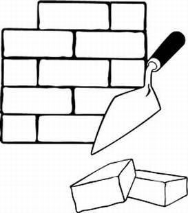 brick wall repair job